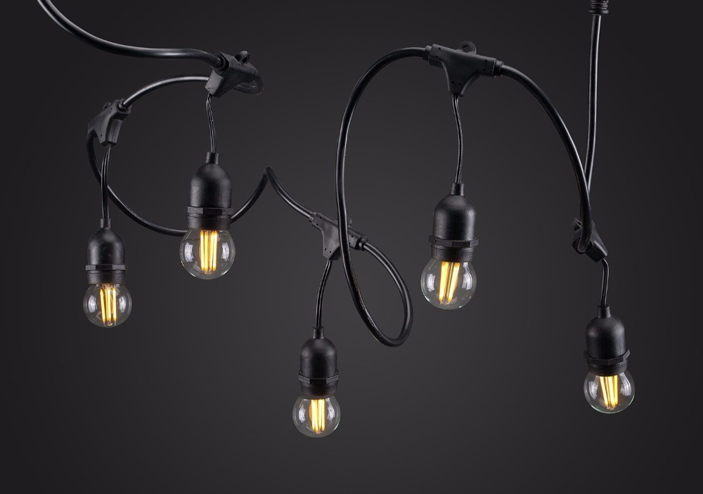 E27 Base String Lights : 14AWGX2C 44 foot string Droplight number 16pcs (including plugs and wire ends) e26 e27 String ...