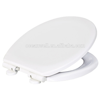 Duroplast toilet seat cover with soft close and quick release for European WC pans