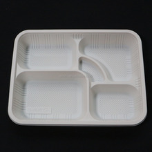 Disposable Plates 5 Compartment Party Food Section Tray Thali Curry