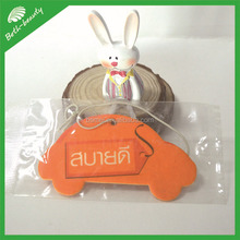 customized advertising hanging paper air freshener for car