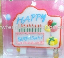 Wholesale Happy Birthday Flat Molded Candles, Party Candle