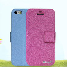 High quality wallet leather case flip PU leather phone case protective back covers for iPhone 5 5s