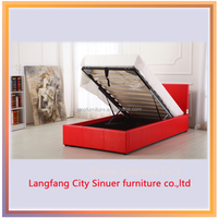 high quality simple pu bed/ hot sale style