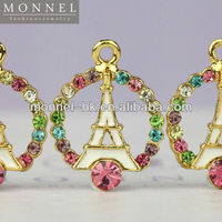 H247 MONNEL 2015 Hot Selling Rainbow Crystal White La Tour Eiffel Paris Tower Jewelry Pendant