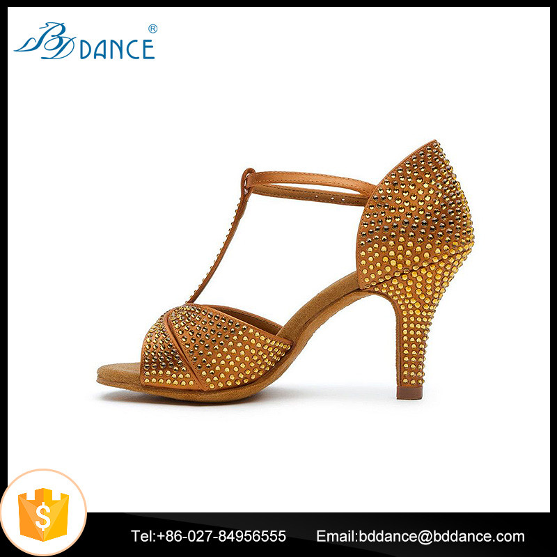 Dance Shoes with Stones Model 2358-C