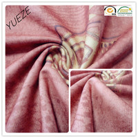 100% polyester printed plain cloth or coral fleece fabric for garment