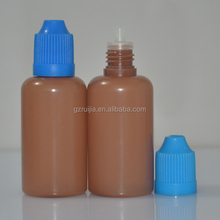 semi translucent pe plastic dropper bottle for eliquid with safety cap