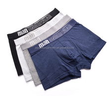 2017 Factory Customized Your Own Brand Design 95%Microfiber Modal 5%Elastane OEM Logo Band Solid Plain Color Men Short Boxers