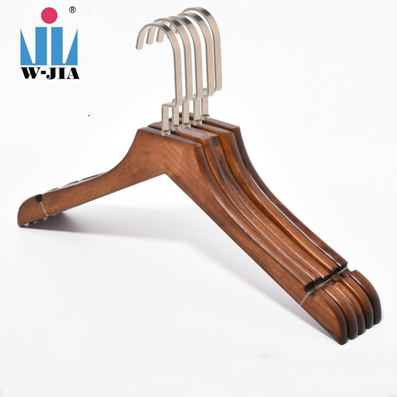 WANJIA hanger factory double wooden clothes cheap skirt hanger for balcony cloth drying rack