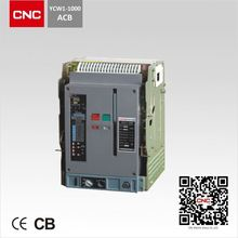 High breaking capacity YCW1 Air Circuit Breaker 1600a 3200a acb