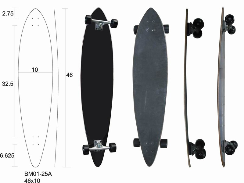 Cheap good longboard wood skateboards, longboard complete