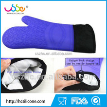 FDA grade silicone oven mitt BBQ grill cooking and pot holder heat resistant gloves