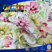 100% viscose printed fabric, flower pattern, blouse fabric