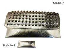 Ladies silver stud clutch bag/wallet
