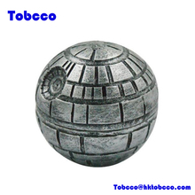 Resin Zinc Alloy 3 Parts Pokeball Herb Grinder 52MM Death Star Popular Smoking Crusher Wholesale
