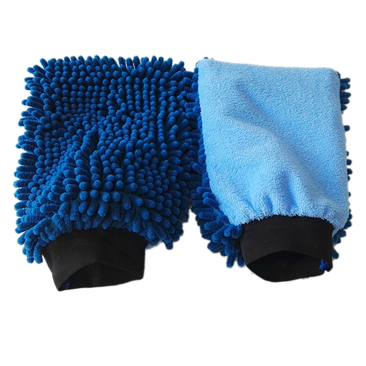 100% polyester microfiber chenille car washing mitt