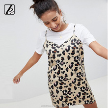 Leopard Mini Slip Dress bodycon ballroom dance sexy japanese prom dress