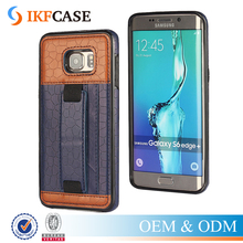 Slim Hard PC Leather Phone Case For Samsung Galaxy S6 Edge Plus G928