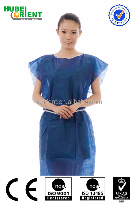Protective Safety Disposable Patients Gown Without Sleeves