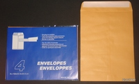 Ribble Manila Peel-n-Seal Envelope White Paper 10*15 inch 100gsm C4 Office Envelope