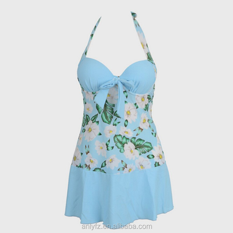 2016 hot selling fashion show thin elegant printing bathing suit for ladies