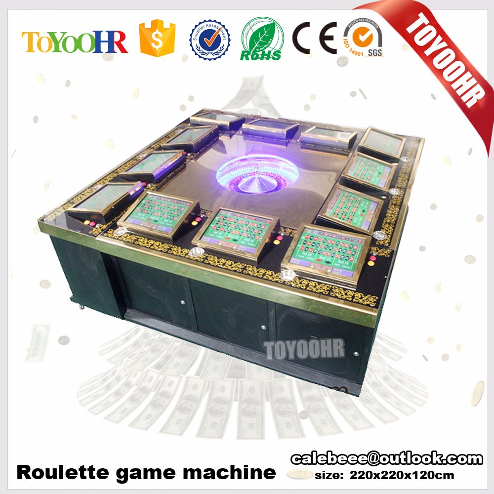 17 inch LED Roulette slot game machine casino games slot machines with 12 seats