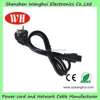 Black OEM High Quality 3 Pin Slow Cooker Power Cord with VDE
