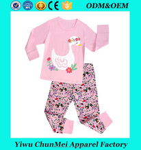 girls swan long sleeve cotton pajamas suits kids sleeping wear children fashion brand clothes