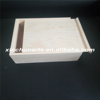 Cheap wooden slide box,sliding lid wooden box,wooden box with slide top