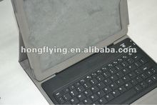 OEM upscale high quality fashion pu/real leather cases with bluetooth keyboard for tablet,for ipad2/3