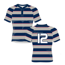 Custom Stripes Rugby Jersey For Man