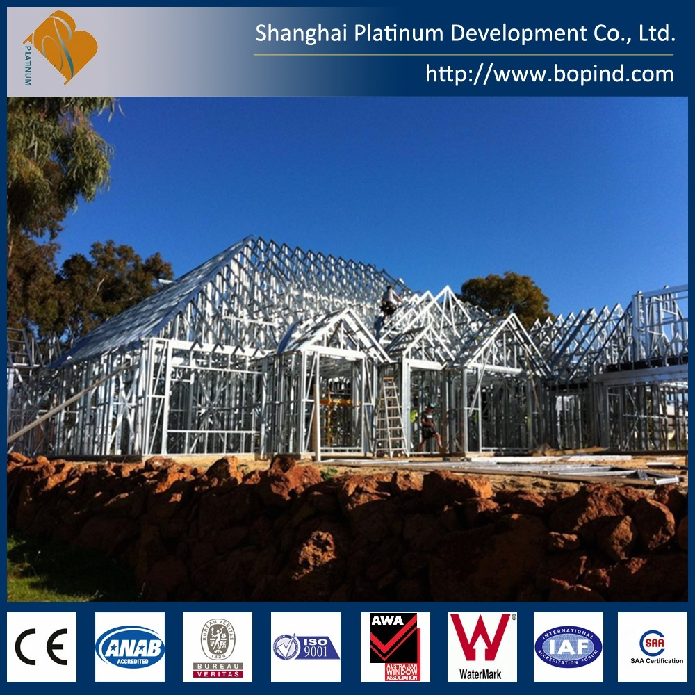 Australian AS4100 Hot new product steel structure luxury prefab light steel villa