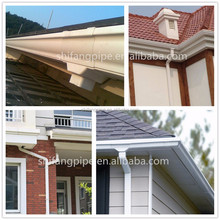 Factory direct sale low price greenhouse injection PVC rain gutter