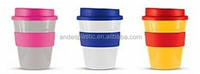 356ML Microwave Safe Single Wall Plastic Portable Travel Coffee Mug