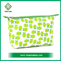 2016 fashionable hot custom cheap personalized organic cotton cosmetic bag, makeup bag