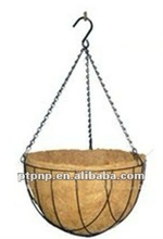 hanging wire mesh coco-liner decorative plant baskets