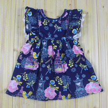 Summer kids clothing wholesale girls party dresses baby girl lace dress