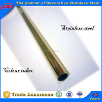 PVD coating stainless steel tube titanium gold finish