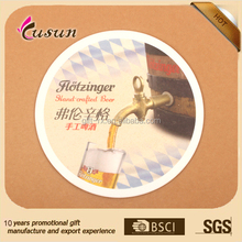 Promotional newest promotional cheap recycled beer paper coasters for hotels