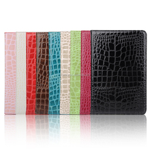 Crocodile grain leather cover case for ipad mini4, Leather case for laptop