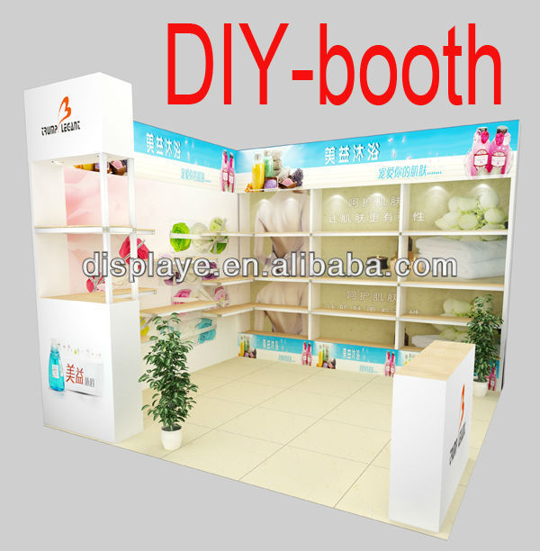 Custom Green Portable Modular Expo Stands
