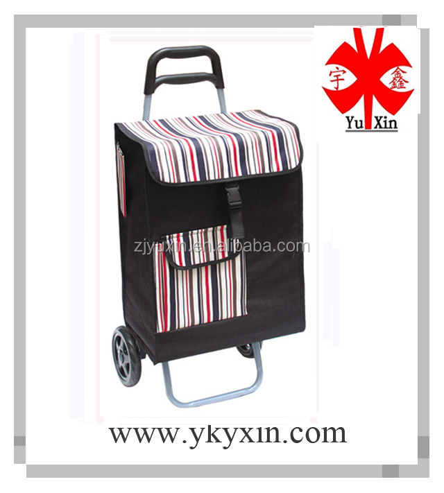 Folding shopping trolley bag with square bag/folding shopping trolley bag