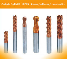 carbide square end mill milling machine tools hrc55 4 flutes all dia available