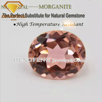 Newest Oval Shape Morganite Nano Sital Gemstone
