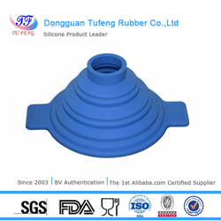 Dongguan foldable square funnel eco- friendly silicone funnel for oil