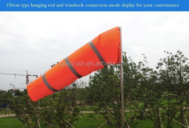 100% Polyester Or Nylon Material The White And Orange Flag Windsocks