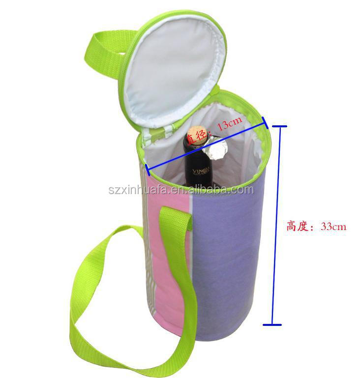 (XHF-TOOL-016)promotional insulated wine bottle cooler neoprene bottle holder for wine beer