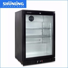 Hotel mini single door bar bottle cooler,130L top display bar table cooler
