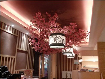 Pink charming artificial cherry tree for indoor decor cherry tree