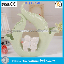 Light green and white lotus leaf ceramic aqua wedding decorations